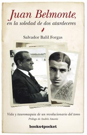 Portada del libro Juan Belmonte, en la soledad de dos atardeceres