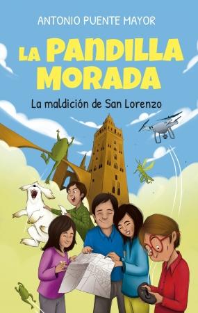 Portada del libro La Pandilla Morada y la maldición de San Lorenzo