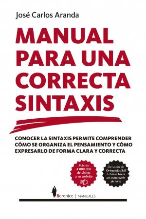 Portada del libro Manual para una correcta sintaxis