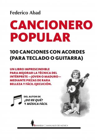 Portada del libro Cancionero popular. 100 canciones con acordes (para teclado o guitarra)
