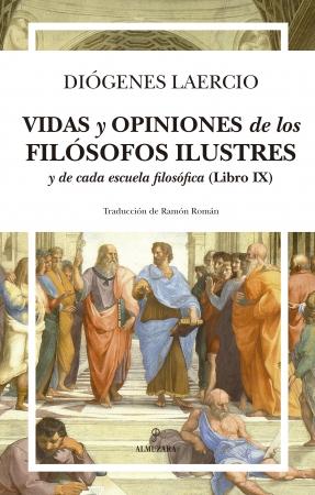 Portada del libro Vidas y opiniones de los filósofos ilustres y de cada escuela filosófica (Libro IX)